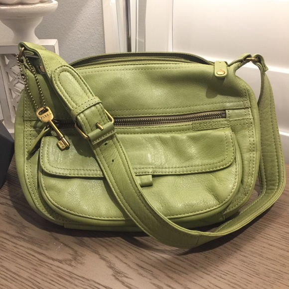 87df1785df9fa1 Fossil Bags | Purse Leather Green Shoulder Bag | Poshmark